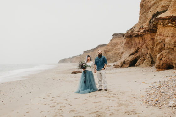 photo de couple mariage à la mer